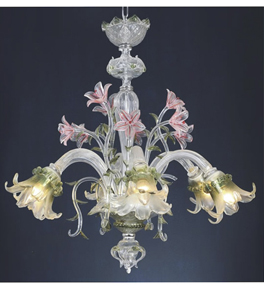 Hand Made Floral Style Chandelier