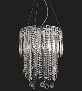 6 Light Crystal Dropper Chandelier