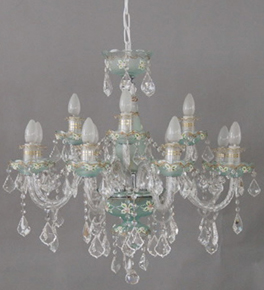 Two Tone Murano Style Chandelier