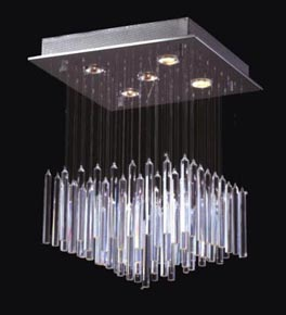 Small Floating Icicle Surface Mounted Chandelier
