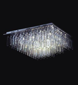 Crystal Prism Surface Mounted Chandelier
