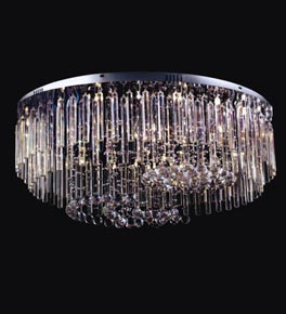 36 Light Crystal Prism Surface Mounted Chandelier
