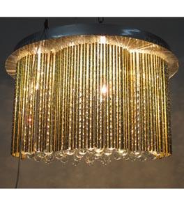Modern 9 Light Surface Mounted Chandelier