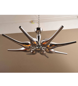 Modern 8 Light Chrome Chandelier