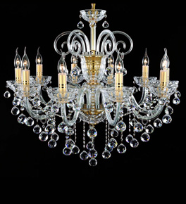 10 Arm Crystal Ball Drop Chandelier