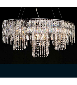6 Light Crystal Prism Chandelier