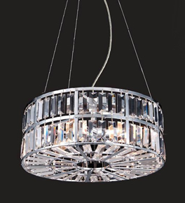 Layered Crystal Disc Chandelier