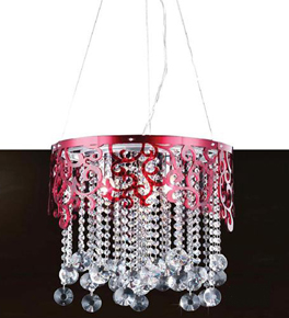 Swirl Framed Crystal Chandelier