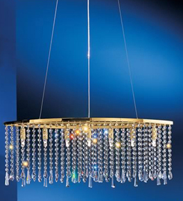 7 Light Crystal Curtain Chandelier