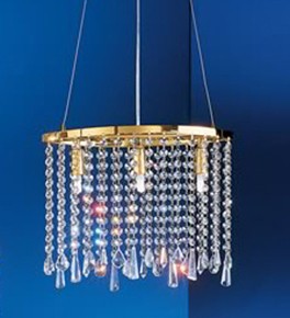 3 Light Crystal Curtain Chandelier