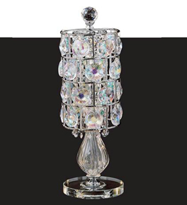 Crystal Disc Table Lamp