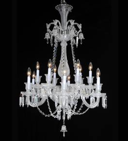 2 Tier Crystal Dagger Chandelier