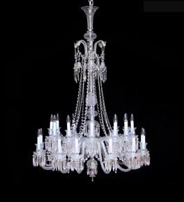 24 Light Crystal Baccarat Style Chandelier