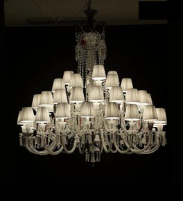 48 Light Mixed Tones Chandelier with Shades
