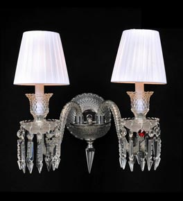 2 Arm Shaded Crystal Dagger Wall Light