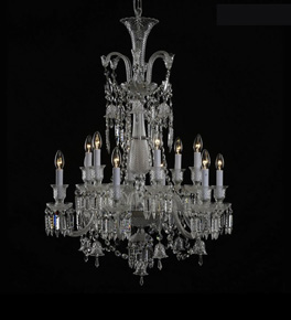 12 Light Baccarat Style Chandelier