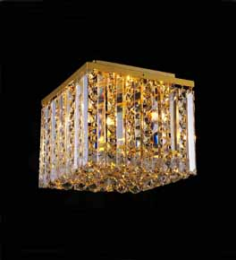 Surface Mounted Coloured Crystal Chandelier