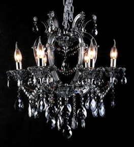 Classic 6 Arm Coloured Crystal Chandelier
