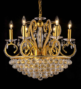 Modern Chandelier With Clear Crystal
