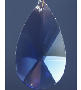 Coloured Pear Shaped Faceted Crystal Drops