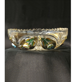 Glass Drip Tray With Embellished Design