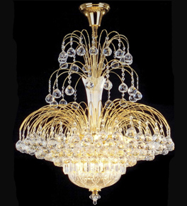 Elegant Tiered 10 Light Crystal Chandelier
