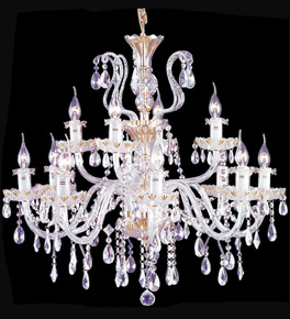 Pristine tiered 12 light crystal drop chandelier