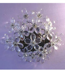 Floral Crystal Detailed 2 Light wall lamp.