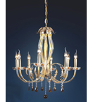 Murano Glass Drop 8 Light Modern Style Chandelier.