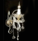 Murano Glass Crystal Drop 1 Light wall lamp