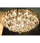 18 Light Crystal Ball Surface Mounted Chandelier