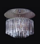 15 Light Crystal Stalactite Flush Fitting Chandelier