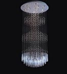 Modern Tiered Floating Crystal Chandelier