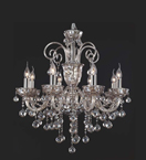 Brandy Coloured 8 Arm Crystal Chandelier