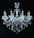 8 Light Crystal Laura Chandelier
