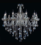 10 Light Chandelier With Champagne Crystal Drops