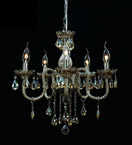 Brandy Crystal 5 Light Chandelier