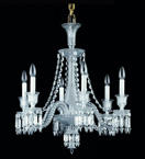 8 Light Crystal Spear Drop Chandelier