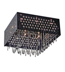 16 Light Framed Hanging Crystal Chandelier