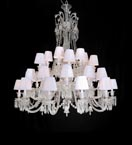 36 Light Crystal Baccarat Style Chandelier with Shades