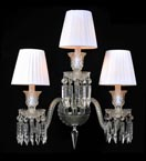 3 Arm Shaded Crystal Dagger Wall Light