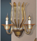 Brazier Design Glass Wall Lamp