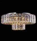Clear Crystal Flush Chandelier