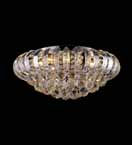 Modern Flush Mounted Clear Crystal Chandelier