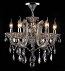 5 Light Laura Chandelier With Coloured Crystal