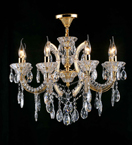 8 Arm Clear Crystal Laura Chandelier
