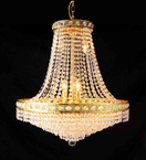 Chandelier With Clear Crystal Detail