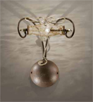 Botte Design wall lamp With Hand Forged Details And Glass