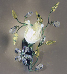 Menta Design Hand Made Wall Light with Floral Crystal