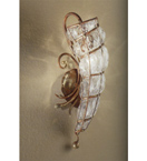 Soffiati design seashell shape wall light with blown glass inside